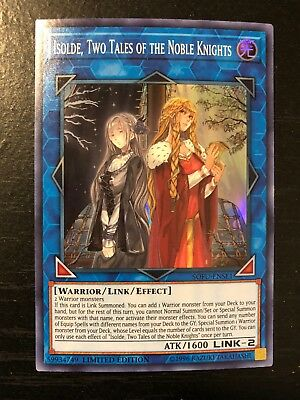 3x Yugioh! Isolde, Two Tales of the Noble Knights - SOFU-ENSE1 - SR - LE NM