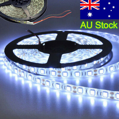 5M Flexible Bright LEDs Strip Lights 12V Waterproof Cool White 5050 300SMD 2019