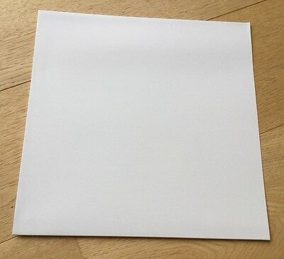 "5 x White Outer Card Album LP 12"" Sleeve Cover Test Press Vinyl Record"