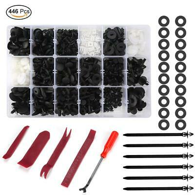 446 Pcs Car Retainer Clips Auto Plastic&Fasteners Kit with Fastener Removal Tool