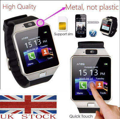 UK DZ09 Bluetooth Smart Watch For Android & iOS Smart Phones With Camera SIM