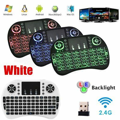 2.4GHz Mini Wireless Keyboard Remote Qwerty Touchpad For Android TV BOX & PC~0