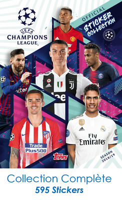 Champions League UEFA - Album + Collection Complete de Stickers (595 au total)