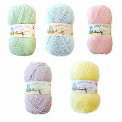 James C Brett Super Soft Baby Double Knit DK Acrylic Knitting Wool Yarn 100g
