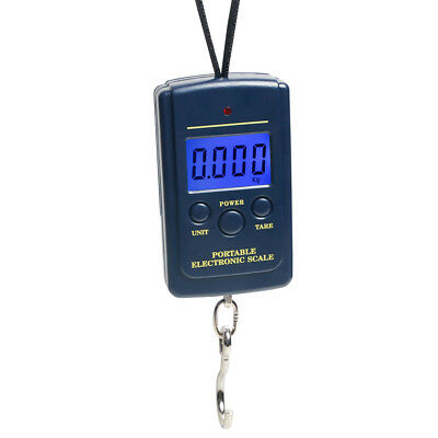 40kg LCD Digital Portable Electronic Hook Scale Hanging Luggage Weight Weighing