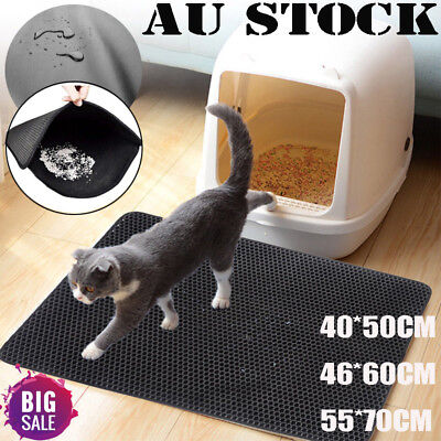 New Waterproof Folding Double-Layer Cat Litter Trapper Mat EVA Pet Mat Bottom AU