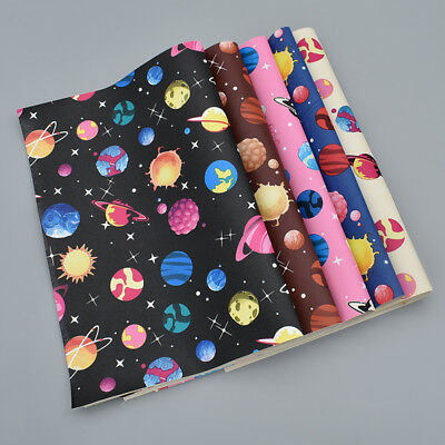 A4 Starry Sky Faux Leather Upholstery Fabric Sheet DIY Hair Bow Sewing Material