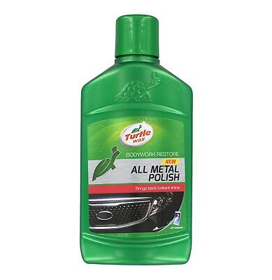TurtleWAX chrome metal surface cleaner Polish Turtle Wax All Metal Polish 300ml