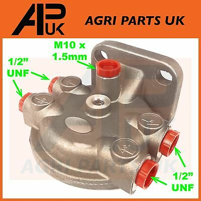 Tractor Fuel Filter Head Housing Massey Ferguson Ford Case International 1/2 UNF