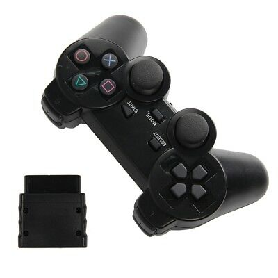 New Wireless Black Dual Shock Controller for PS2 PlayStation 2 Joypad Gamepad UK