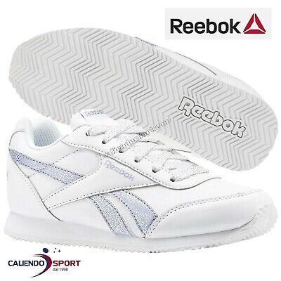 0b25deef7dddf3 La Chaussure Fille Reebok Cn4771 Royal Classic Jogger 2.0 Argent Blanc  Sneakers