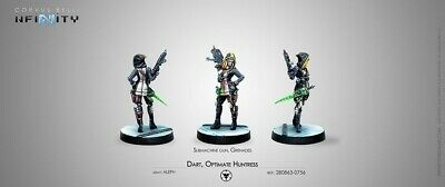Dart, Optimate Huntress (Submachine Gun, Grenades) Corvus Belli New 280863-0756