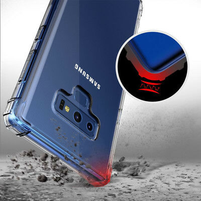 For Samsung Galaxy Note 9 8 5 Shockproof Bumper Transparent Silicone Case Cover
