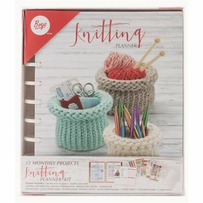 Boye Simplicity Deluxe Knitting Planner Calendar - 12 Monthly Projects Organiser