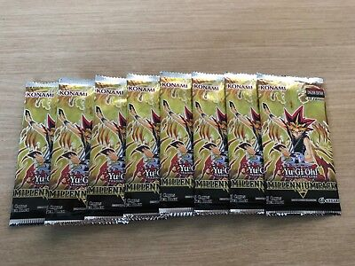 8 x YuGiOh! Millennium Pack 1st Edition Booster Pack! *LIMITED STOCK! MUST GO!*