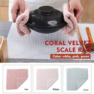 BC6A Reusable 2pcs Washing Cloth Kitchen Cleaning Cloth Kitchen Tools