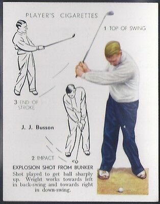 Players-Golf (Uk Issue L25)-#07- Explosion Shot From Bunker - J. J. Busson