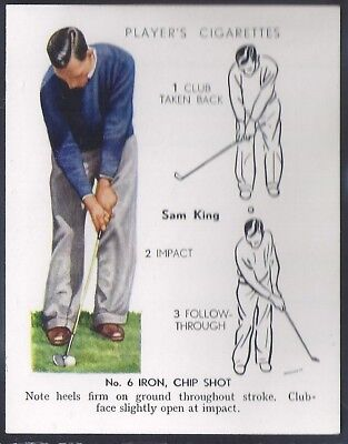 Players-Golf (Uk Issue L25)-#18- Iron Chip Shot - Sam King