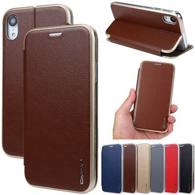 For iPhone Xs Max XR X 6/7/8 Plus Magnetic Flip Leather Wallet Card Case Cover