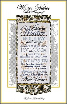 WINTER WISHES WALL HANGING MACHINE EMBROIDERY CD, Janine Babich Designs NEW