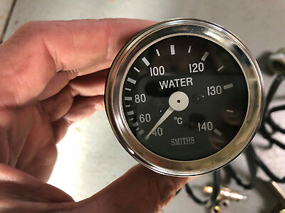 Smiths Full Face Capillary Water Temperature Gauge Cobra Type Chrome Rim 52mm 2""