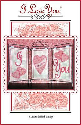 I LOVE YOU TABLE TOP DISPLAY MACHINE EMBROIDERY CD, Janine Babich Designs NEW