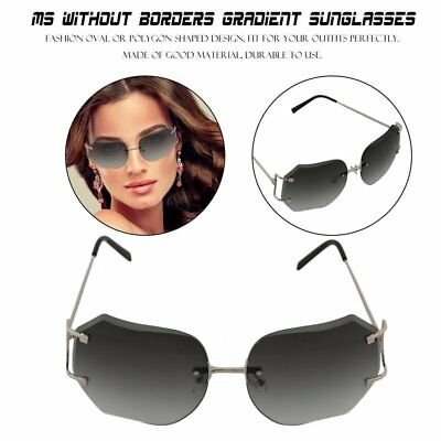 Sun glasses for women the Oval Cutting Metal Gold Wire-rimmed Sunglasses BZ