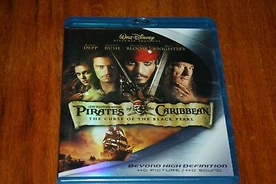 Pirates of the Caribbean: The Curse of the Black Pearl (Blu-ray Disc, 2007, 2-Di