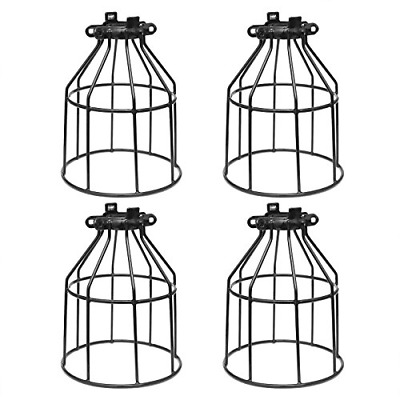 Supmart Metal Bulb Guard, Clamp On Steel Lamp Cage for Hanging Pendant Lights