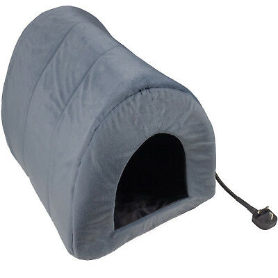 Heated Pet Bed Mat Cat Dog Puppy Electric Heat Pad Warm Igloo Snug Cave House