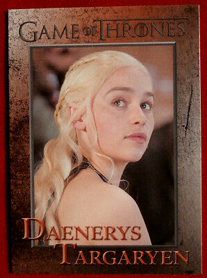 GAME OF THRONES - DAENERYS TARGARYEN - Season 3, Card #48 - Rittenhouse 2014