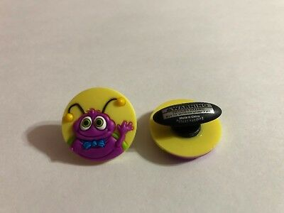 Get 2 Same Charms - Purple Bug in Circle Shoe-Doodle Shoe Charm for Crocs CRT008