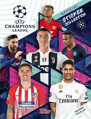 Album CHAMPIONS LEAGUE TOPPS 2018/2019 + 16 stickers
