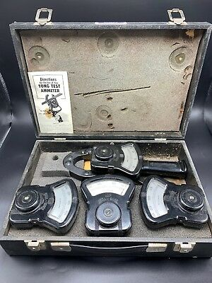 VINTAGE COLUMBIA ELECTRIC TONG TEST AMMETER KIT with Case