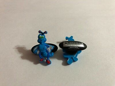 Get 2 Same Charms - Blue Bug with Wings Shoe-Doodle Shoe Charm for Crocs CRT001
