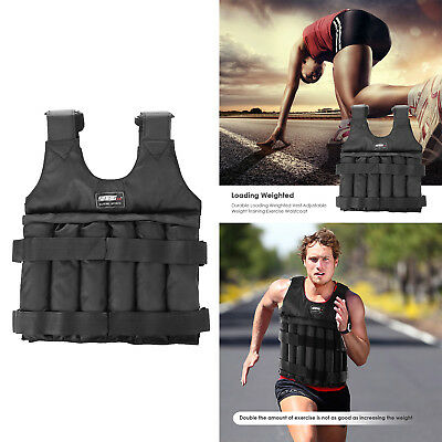 Max 20kg/50kg Loading Adjustable Workout Weight Weighted Vest Exercise Training