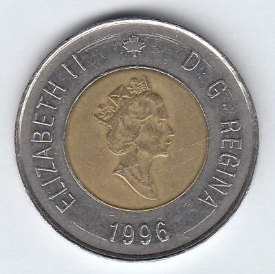 CANADA 1996 2 dollars coin circulated Elizabeth II 3rd portrait #818