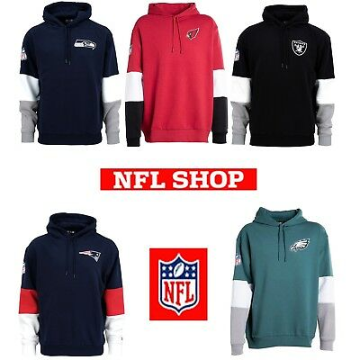 New Era Cap Sweatshirt Herren Kapuzenpullover USA - NFL Hoodie COLOR BLOCK   NEU