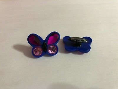 Large Blue & Purple Butterfly Shoe-Doodle Butterfly Shoe Charm for Crocs PSC562