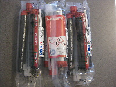 (x3) Hilti HIT-RE 500 V3 Injectable Epoxy Anchors 16.9 fl.oz., Expire - 10/2019