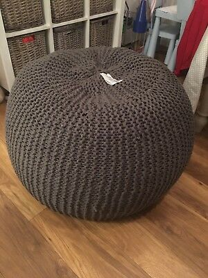 Outstanding Made Com Large Chunky Knit Bean Bag Slate Grey Rrp 149 Ncnpc Chair Design For Home Ncnpcorg