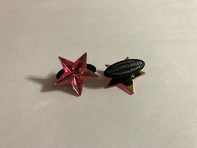Pink Star Shoe-Doodle Pink Star Shoe Charm for Crocs Shoe Charms PSC500