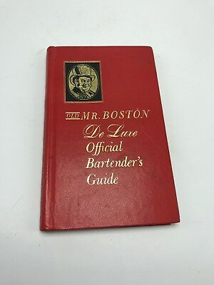 Old Mr Boston De Luxe Official Bartenders Guide 1965 By Leo Cotton Hardcover Vtg