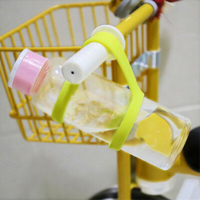 Silicone Water Bottle Carrier Water Handle Cup Strap Soft Band Holder Straps G