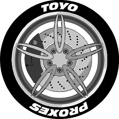 TOYO PROXES x4 / Permanent Tyre Stickers / Lettering Kit / 3D / Tire Stickers