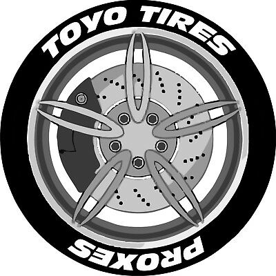 TOYO TIRES PROXES x4 / Permanent Tyre Stickers / Lettering Kit / 3D / Tire