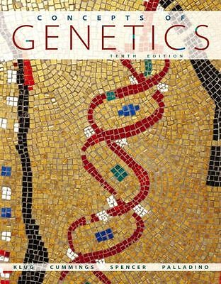 Concepts of Genetics (10th Edition) by Klug, William S., Cummings, Michael R.,