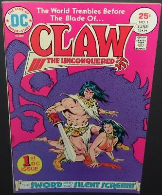 Claw The Unconquered #1 1975 DC 7.0 1st appear Claw (Conan-like) BV$7 40%Off