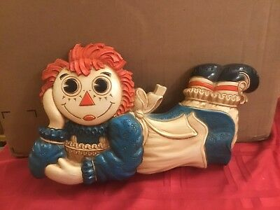 Vintage Raggedy Ann Wall Plaque Hanging The Bobbs Merrill Co. 1977
