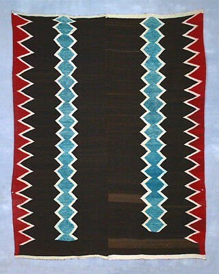STUNNINGLY GORGEOUS ANDES INDIAN BLANKET Antique SW-like Wool Textile TM11165
